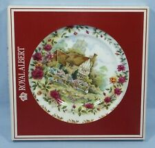 More details for royal albert bone china 4 seasons boxed plate by f. f. errill - summer