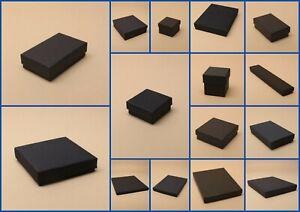 Jewellery Box Black Card Flocked Pad Gift Favour Present watch  Kraft ring