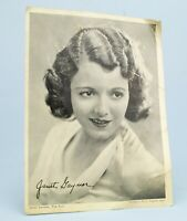 1931 JANET GAYNOR Photograph Woman's Way American Film Actress Vintage Retro