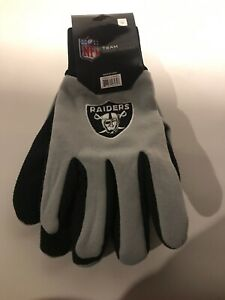 Oakland Raiders NFL Two Toned Team Colors Sport Utility Gloves Winter Summer NWT