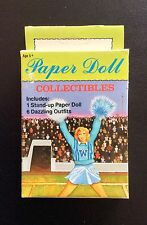Small Boxed Set THE CHEERLEADER Paper Dolls Collectibles, 1992, Uncut