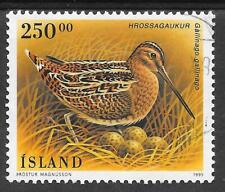 ICELAND SG 849 SOUND USED 1995 BIRDS; COMMON SNIPE.