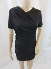 Alexander Wang Black Short Sleeve Ruched Sheath Dress Size M