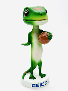Geico Gecko Mascot Promo Bobble GECKO THE LIZARD BASKETBALL SPORTS BOBBLE HEAD