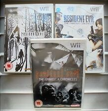 Resident Evil Bundle Nintendo Wii (Umbrella & Darkside Chronicles) Ex Condition