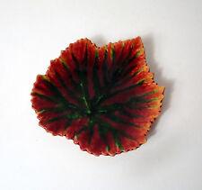 plateau vide poche coupe feuille d'automne signé Yvon Roy céramique vintage