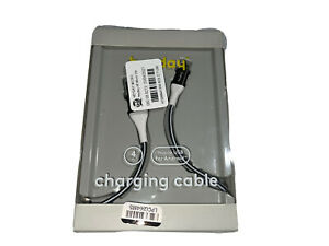 Heyday Charging Cable Micro USB For Android 4ft Grey & Black Open Box A3