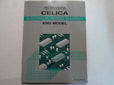 2002 Toyota CELICA Electrical Wiring Diagram Service Shop Repair Manual EWD