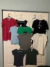 NEW Plain Ladies Short Sleeves T-Shirt Gilden Anvil & More XS~3XL NWOT