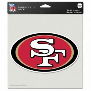 "San Francisco 49ers NFL 8""x8"" Decal Sticker Primary Team Logo Die Cut Car Auto"