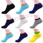 5 Pairs Mens Women's Unisex Sport Low Cut Crew Cotton Ankle Sport Casual Socks