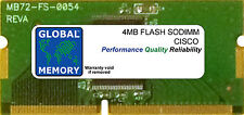 4MB Flash Memoria SoDimm per Cisco 831 / 837 Router (mem830-4f)