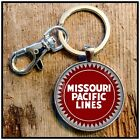Vintage Missouri Pacific Lines Railway Sign Photo Keychain RR Railroad
