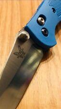 Benchmade Mini Griptilian, Griptilian CUSTOM 100%Titanium Lazer Step Thumb Stud