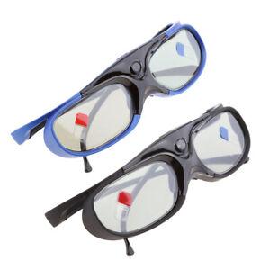 2x 3D Brille Für DLP LINK Projektoren Active Shutter Acer / BenQ / Optoma