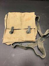 Wwii Ww2 Original Italian Italy M33 Gas Mask Bag Pouch W/ Straps - Nice