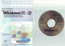 MICROSOFT WINDOWS 98 - PC OPERATING SYSTEM SOFTWARE WITH MANUAL & COA FAST POST