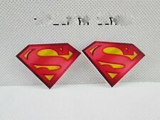 2 x 44MM SUPERMAN LASER CUT FLAT BACK RESIN HEADBANDS BOWS PLAQUES CARD MAKING