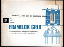 SALES BROCHURE 1958 THE NEW SYLVANIA FRAMELOK GRID NEW ERA IN ELECTRON TUBES