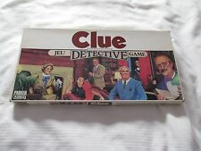 1986 CLUE DETECTIVE Parker Brothers board game jeu COMPLETE