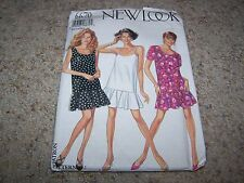 NEW LOOK Sewing Pattern 6670 Misses CUTE SUMMER DRESSES Size 6-16 UNCUT