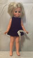VTG Velvet Doll Crissy Cousin 1970 Growing Hair Ideal Purple Dress 2M 5169-01