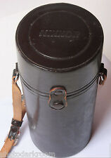 "Nikkor Brown Lens Case #20 - OUT 4 x 9.5"" - IN 3.5x8.5"" - Nikon Japan - USED F03"