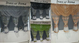 Amazing Voile Net Curtains Ready Made with Swags Novelty Modern 600x150cm