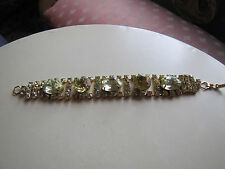 Vintage lemon colored rhinestone bracelet