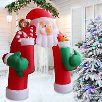 11Ft Christmas Huge Inflatable Santa Arch Archway Blown Air Holiday Outdoor