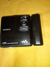 Sony Walkman Mz-Rh10 Hi-Md Portable MiniDisc Player Recorder Black - Working!