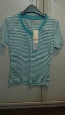 Womens blue striped t-shirt