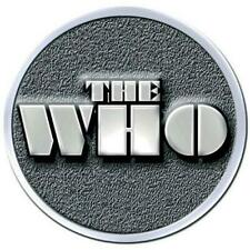 More details for official licensed - the who - stencil logo chrome pin badge mod daltrey rock