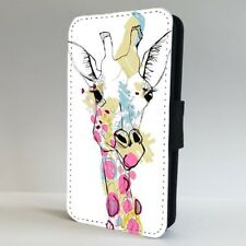 Giraffe Colourful Art Animal FLIP PHONE CASE COVER for IPHONE SAMSUNG