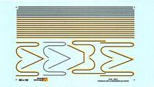 Decalc Striping for Santa Fe EMD E & F - Micro Scale - Echelle 1/160 ème (N)
