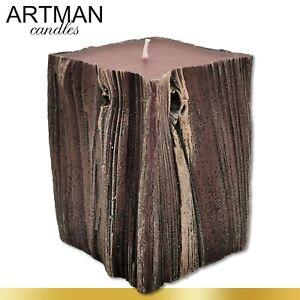 Sandalwood Kerze mit Sandelduft | 1 kg | Nussbaumoptik Geschenk Adventskranz