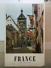 Affiche ancienne Alsace 1950