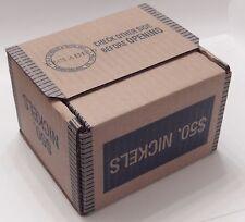 SEALED $50 Buffalo & Liberty V Nickel Lot 25 Roll Box Mixed Date Mint US Nickels