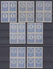Österreich Porto 84x-89x + 91x Kronenwerte 7 Stk 4erBlock postfrisch ANK € 56,-