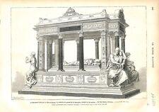 Monument Ville de Nantes à la Mémoire du Général de la Moricière GRAVURE 1879