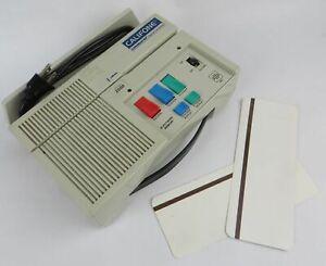 Califone Cardmaster Model 2020 Magnetic Card Audio Reader / Recorder W/ 2x Cards