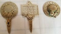 Mary Engelbreit Garden Plant Marker Lot of 3 USED