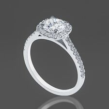 1 CT Diamond Engagement Ring Round Cut F/SI 14K White Gold Size 5 6 7 Enhanced