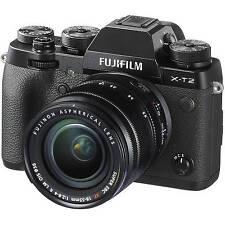Neuf Fujifilm X-T2 XT2 Digital Camera with 18-55mm Lens - Black Noir