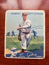 1934 GOUDEY GUM Baseball # 19 - LEFTY GROVE -  HOF - Boston Red Sox
