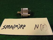 (1) SMA MALE to N FEMALE RF Coaxial Adapter NOS