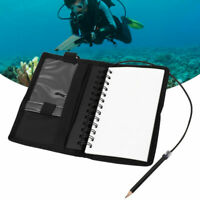 Diving Underwater Notebook Writing Pad Equipment with Pencil Waterproof❤F