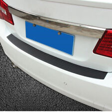 Black JDM Rear Bumper Guard Protector Trim Cover Sill Plate Trunk Rubber Pad Kit