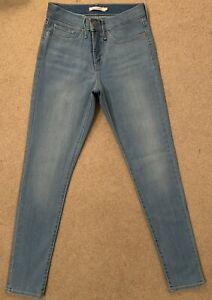 Levis 311 Shaping Skinny Light Blue Stretch Women's Jeans W27 L32 (D375)