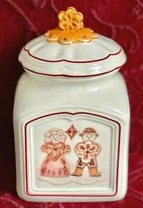 Villeroy & Boch, Ginger Fancy, MEDIUM COOKIE CANISTER - Xmas Gingerbread Cookies